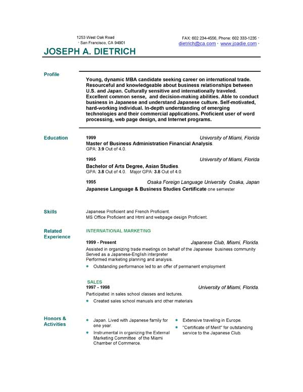 free download resume templates nurse sample