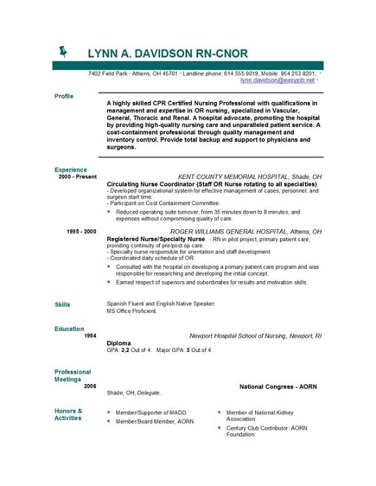 resume samples resume 555 nursing resume templates easyjob