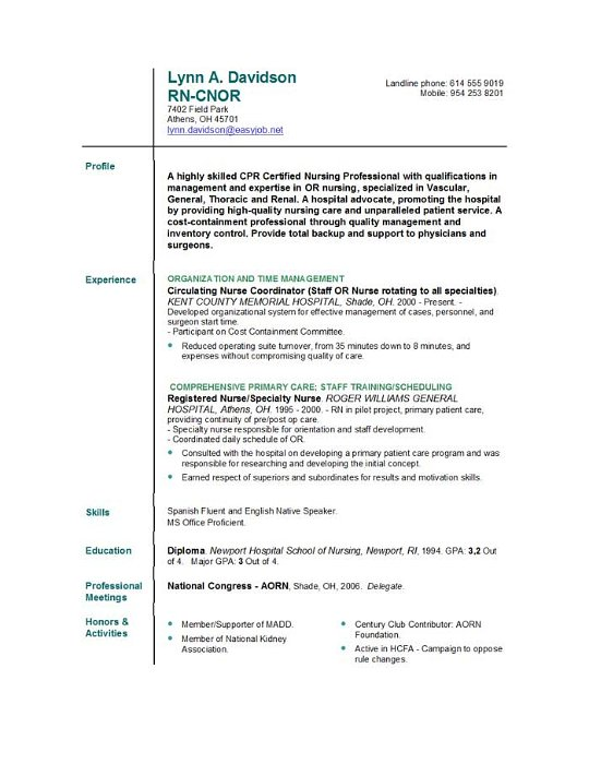 Resumes For Lpn