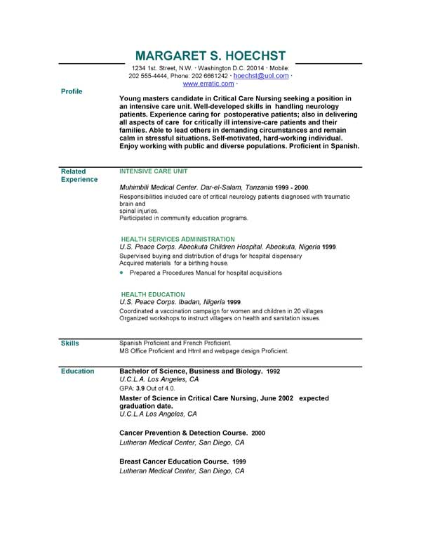 Brief Resume Template  PetitComingoutpolyCo