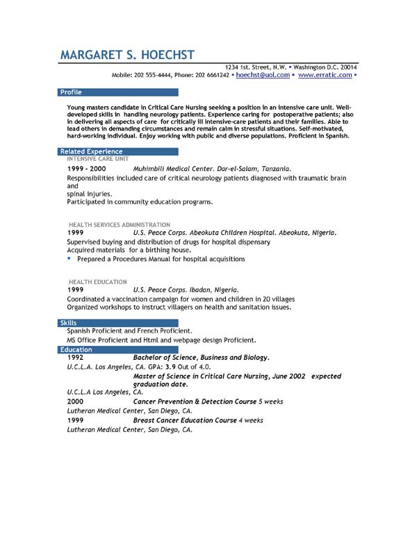 Examples For Resume