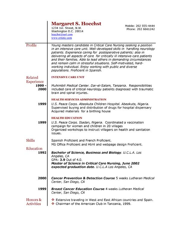 Example Resume] Resume Examples Letter Example Easyjob The Best