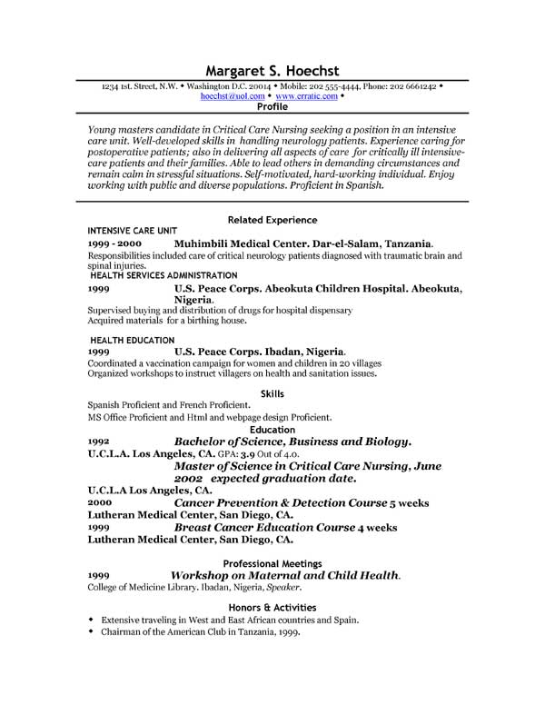 Resume Professional Profile Examples] Resume Profile Examples For