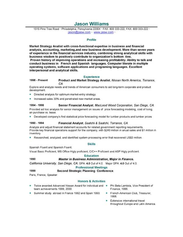 free sample resume format 123 - Resume Sample Format