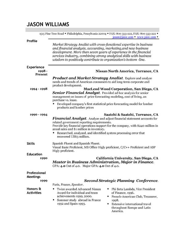 resume-sample-template