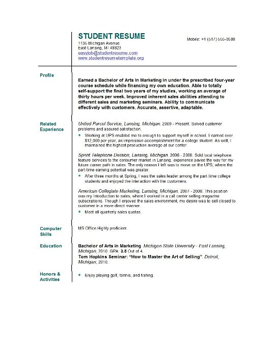 resume college student template student resume templates easyjob 24321 | college student resume templates
