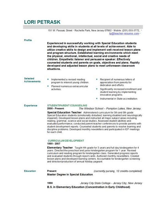 teacher resume templates download teacher resume templates by easyjob ...