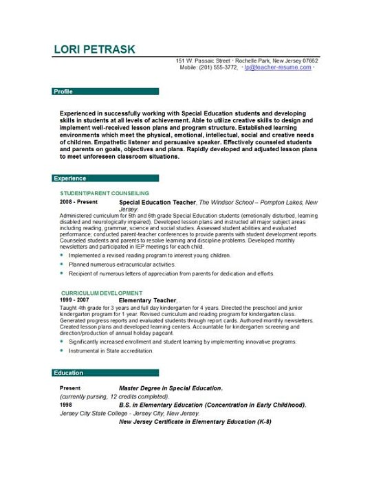 teacher resume lr sample resume skills section computer programmer resume examples fresher teacher resume format in - Sample Of A Good Teacher Resume
