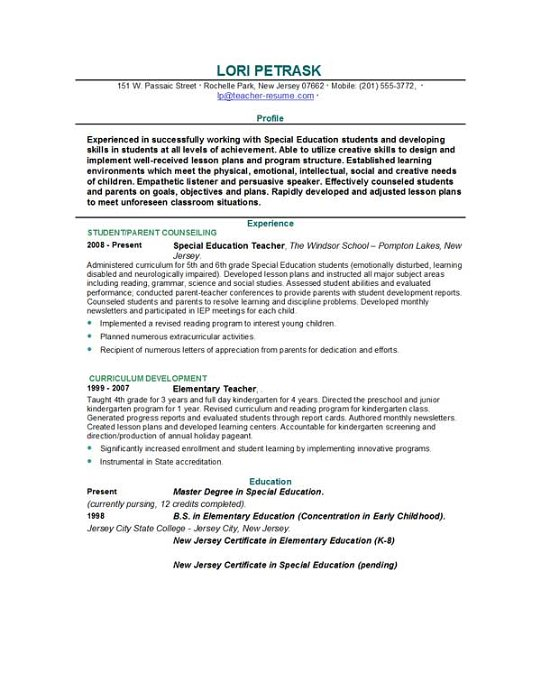 free teacher resume. Resume Example. Resume CV Cover Letter