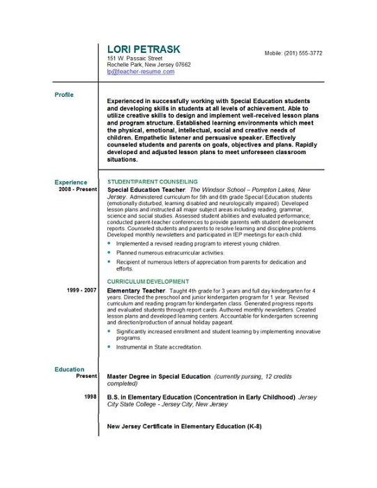 teacher resume template letter of application example of threshold application 14700 | sample teachers resume