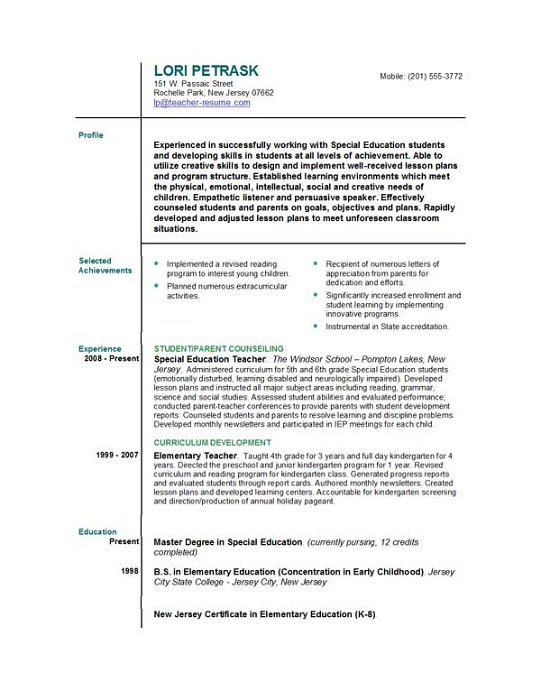 teacher resume cover letter image search results