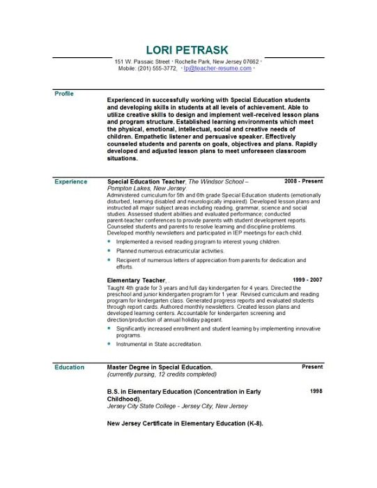 sample teacher resumes co recent posts