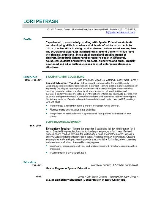 Best Assistant Teacher Resume Example LiveCareer Mechanicalresumes Com Teacher  Resume Templates Free Sample Example Format Download  How To Write A Teaching Resume